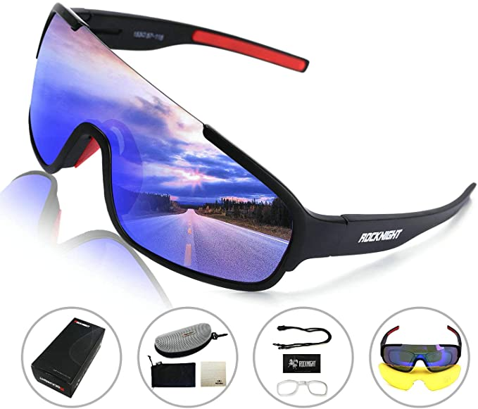 ROCKNIGHT-REVO-Sports-Sunglasses-Men-Women-2-Interchangeable-Lenses-Cycling-Running-Driving-Baseball-Glasses-UV-Protection