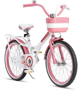 RoyalBaby-Girls-Kids-Bike-Jenny-Bunny-12-14-16-18-20-Inch-Bicycle-3-12-Years-Old-Basket-Training-Wheels-Kickstand-White-Pink-Childs-Cycle