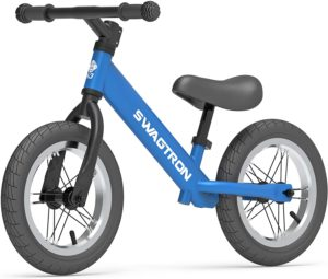 Swagtron-K3-1222-No-Pedal-Balance-Bike-for-Kids-Ages-2-5-Years-Air-Filled-Rubber-Tires-7-lbs-Lightweight-12221622-Height-Adjustable-Seat-ASTM-Certified