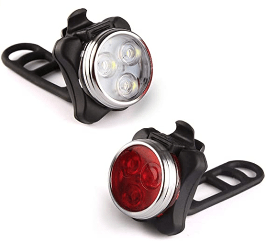 best cold weather bicycle gear 1. Ascher Super Bright Front Headlight and Rear LED Bicycle Light