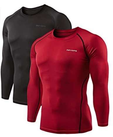 best cold weather bicycle gear 6. DEVOPS 2 Pack Men's Thermal Long Sleeve Compression Shirts