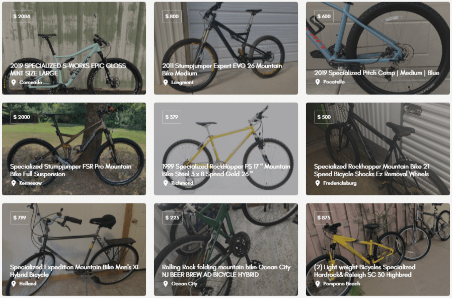 used mountain bikes for sale