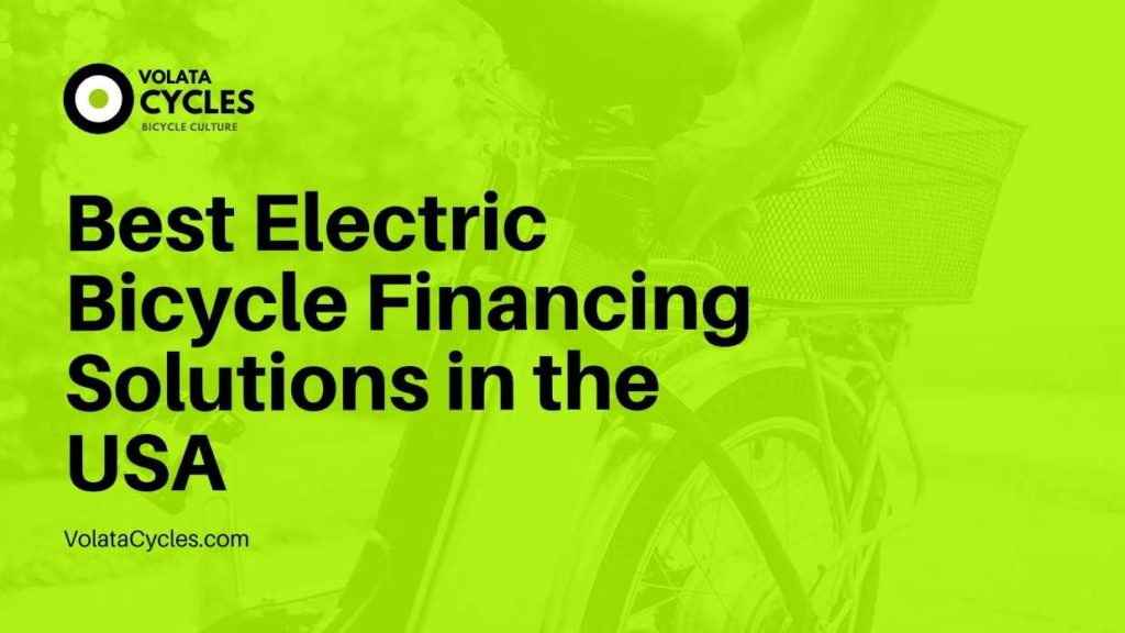 Electric Bicycle Financing