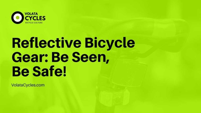 Reflective Bicycle Gear Be Seen, Be Safe!